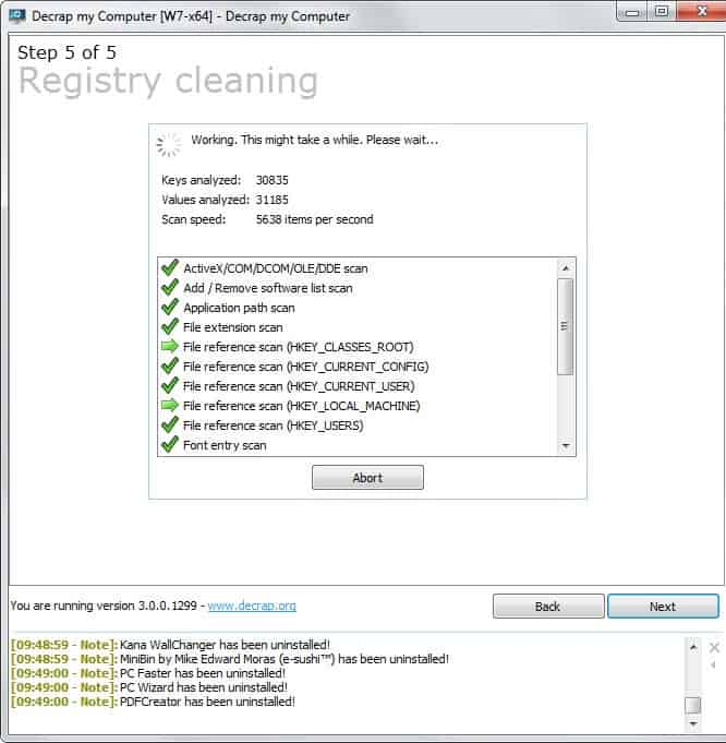 registry cleaning pc