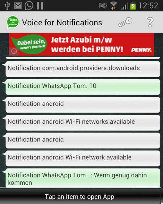 android voice notifications