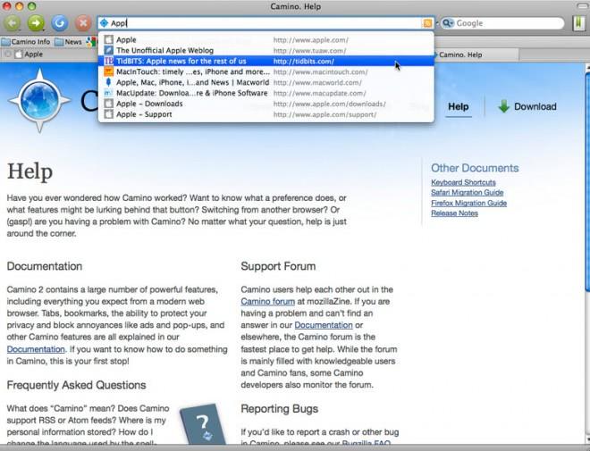 camino browser