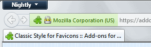 classic style for favicons