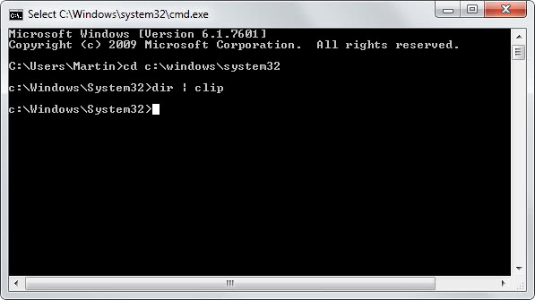 copy windows command prompt clipboard