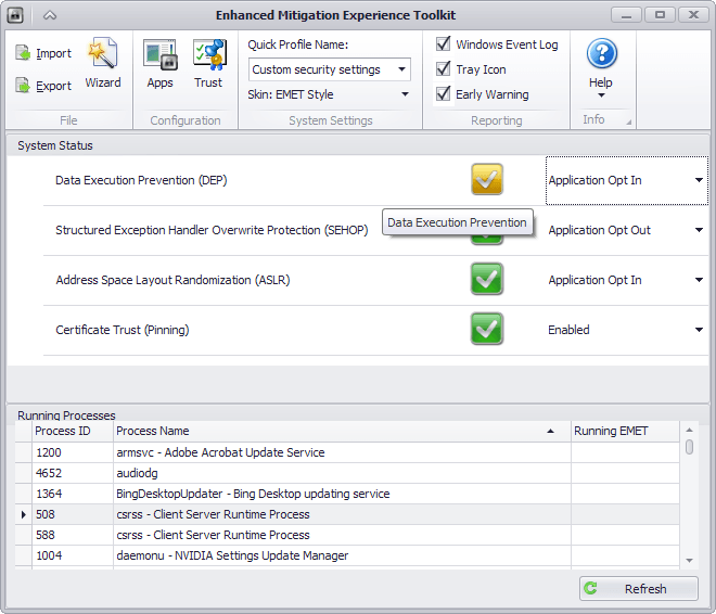 EMET bypass in Wow64 Windows subsystem