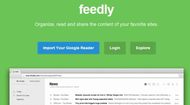 feedly web
