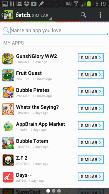 fetch android apps recommendations