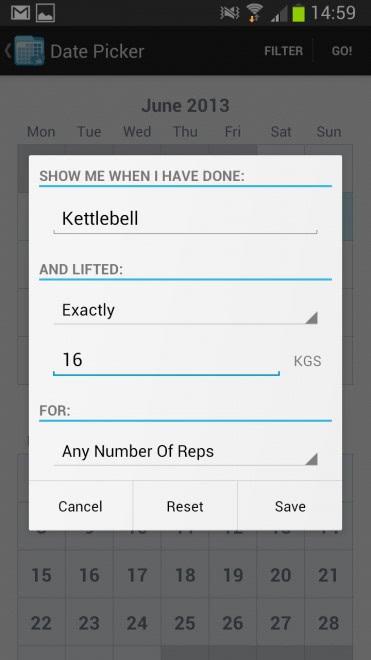 fitness calendar exercises