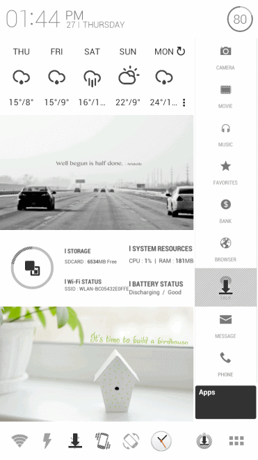 home screen themes android