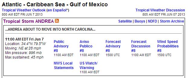 noaa hurricane info