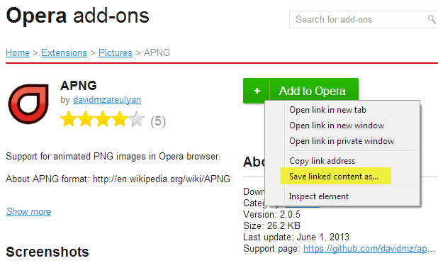 opera extensions in chrome