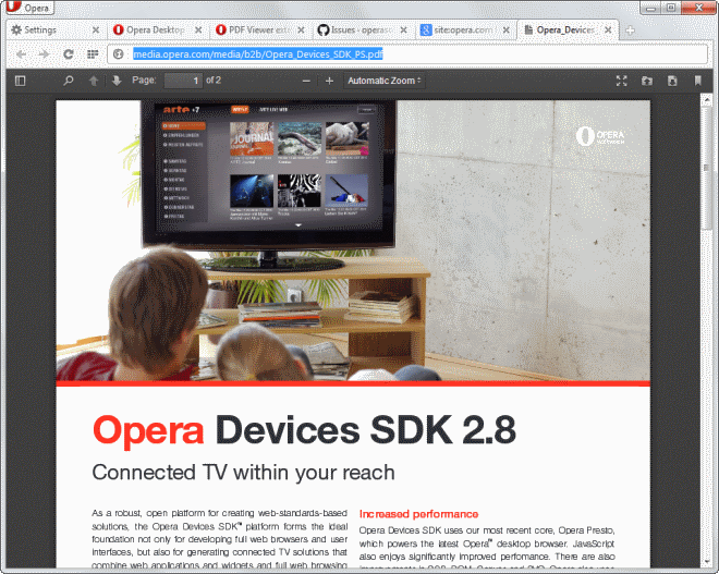 Opera 15 gets Mozilla PDF js support - gHacks Tech News