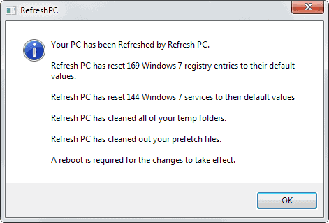 refresh pc