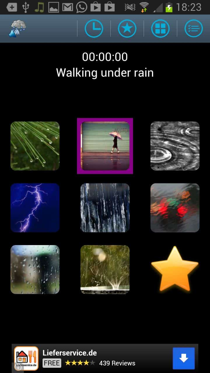 Rain Sound apps for Android