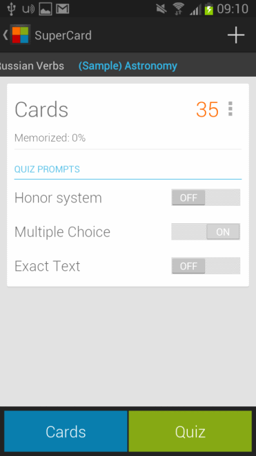 supercards flashcards