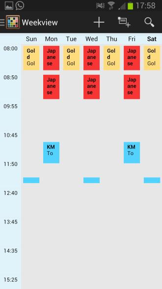 timetable week view