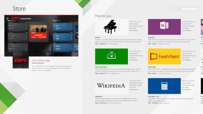 windows 8.1 store