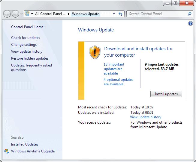 windows security updates june 2013