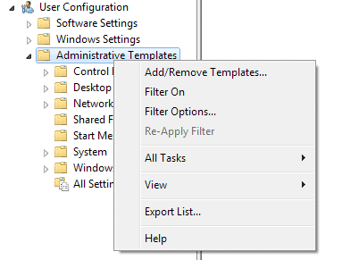 add administrative template