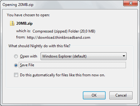 firefox download dialog