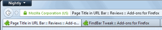 firefox page title url-bar