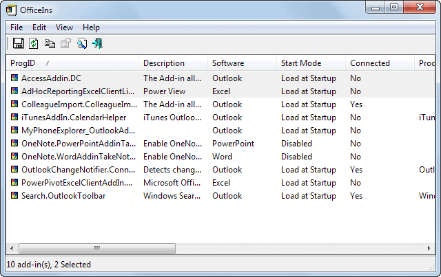 Change the start mode and connection of multiple Office
