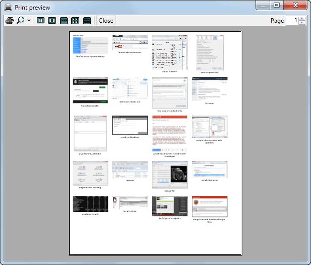 print thumbnails