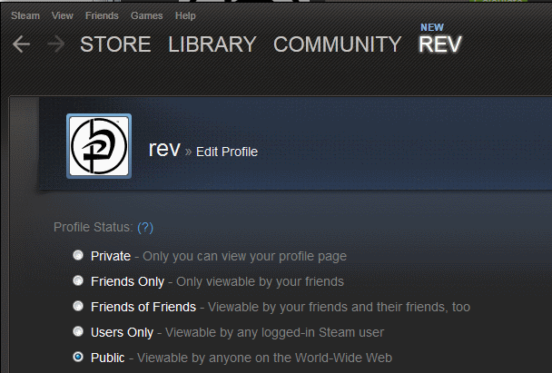 steam public profile