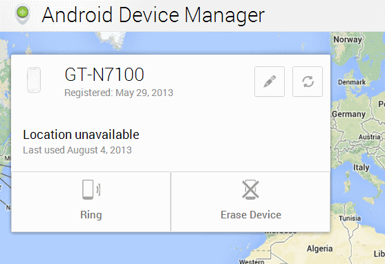 android device manager admin interface