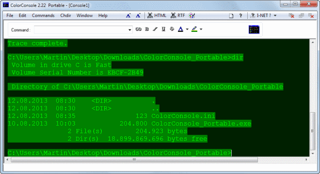ColorConsole improves Windows command line in multiple ways
