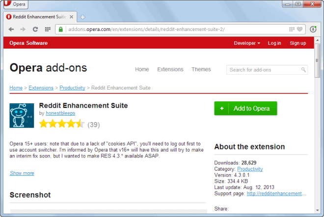 install opera extensions in chrome