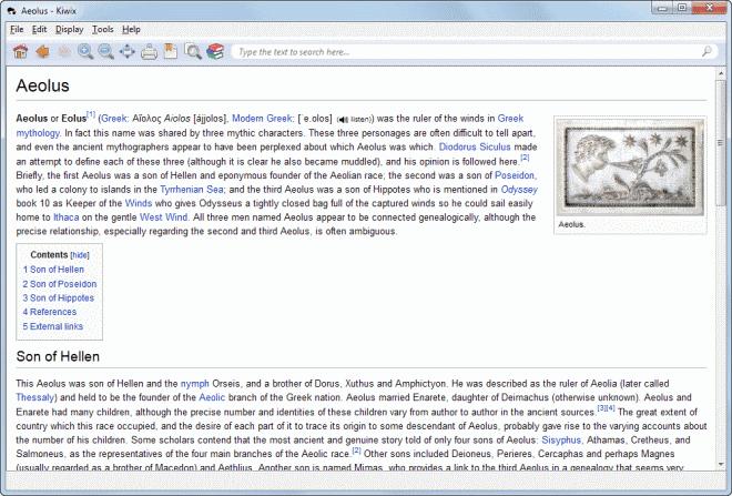 kiwix wikipedia offline browser