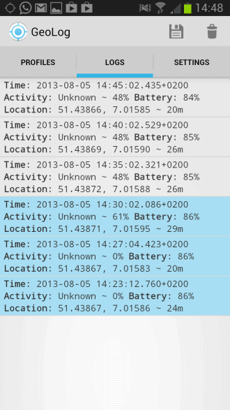 location log