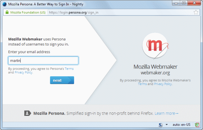 Mozilla Persona gets a boost with Gmail integration