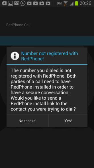 redphone encrypted phone calls