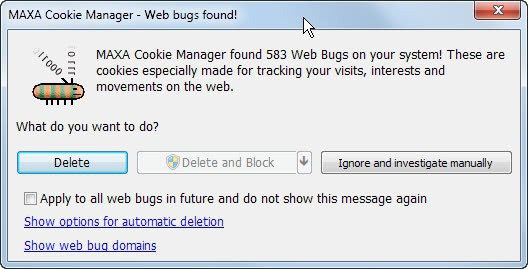 web bugs tracking cookies