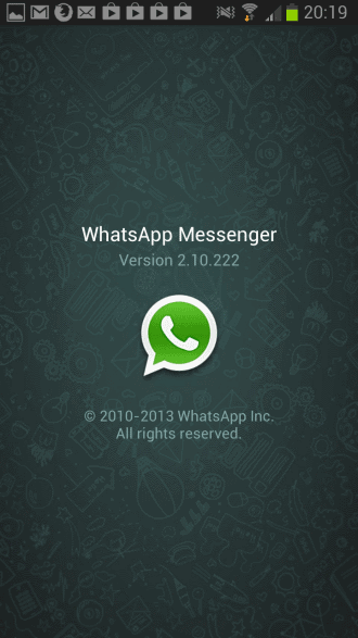 whatsapp version