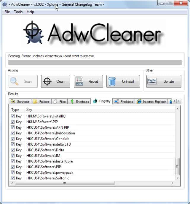 malwarebytes adwcleaner for windows xp