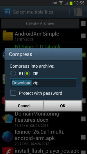 android create archive