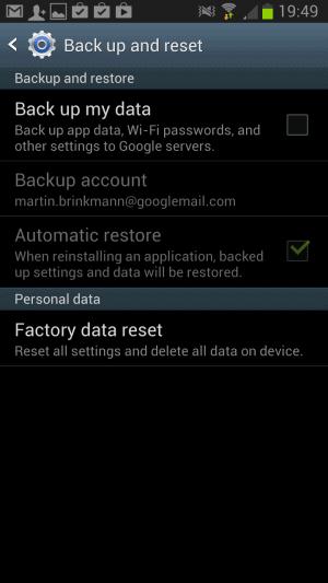 block google backup