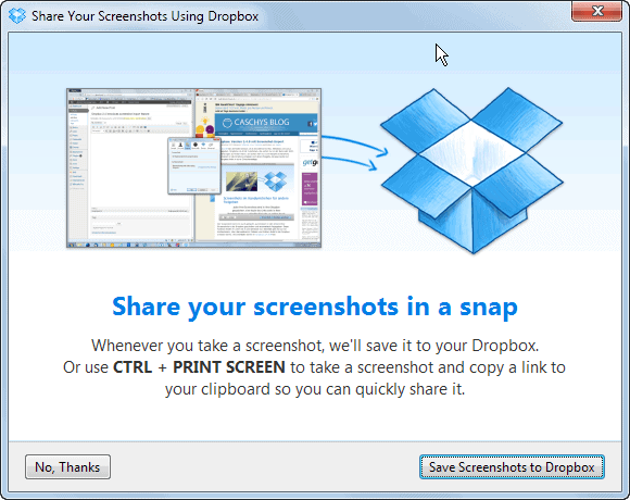 dropbox screenshot sharing