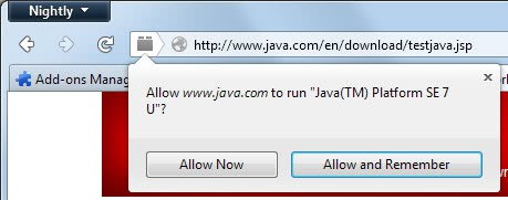 enable java