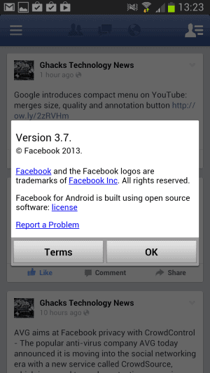 facebook beta app android