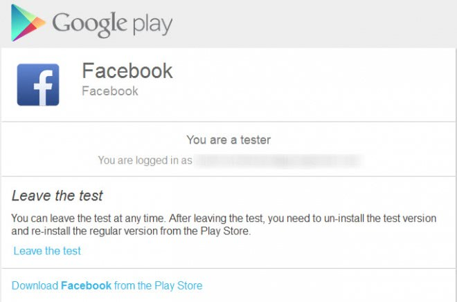facebook for android beta tester