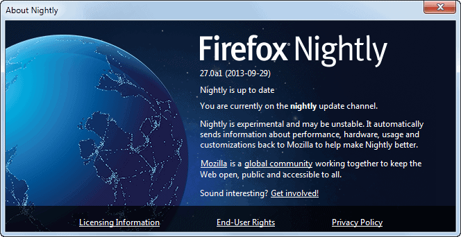 firefox nightly balrog