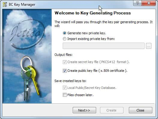 generate public private key