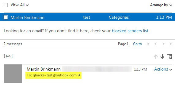 outlook.com email alias
