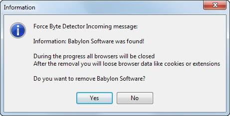 remove babylon toolbar
