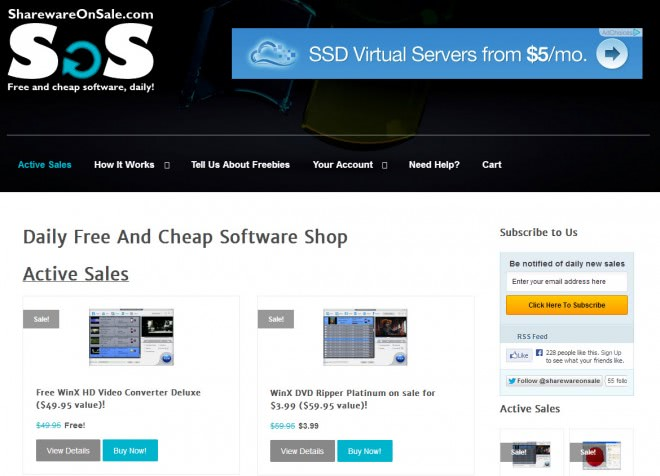 shareware on sale
