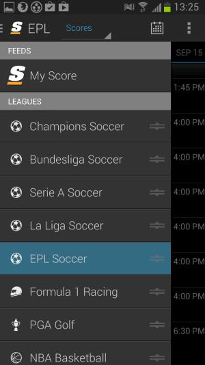 sport scores app