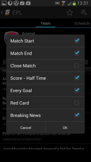 team notifications