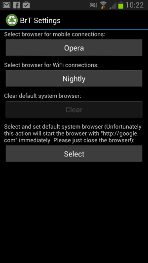 android default browsers