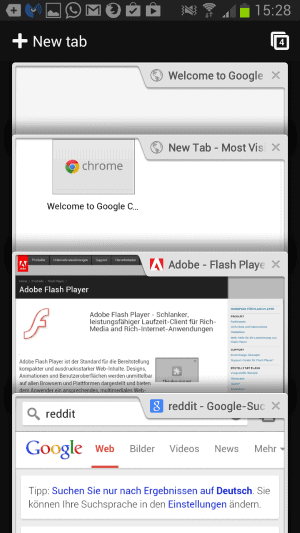 chrome old tab overview